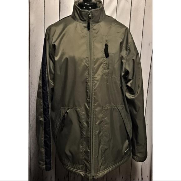 Nike Mens Olive Green Nylon Fleece Lined Jacket. M 5b837d5fbaebf63546d3e790 fb9f56fdc